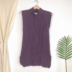 Cotton by Autumn Cashmere Purple Tunic Sweater